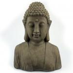 Deko Buddhakopf H46x35,5x20cm Dekofigur fernöstliche Buddhafigur Skulptur Statue Thaibudda Buddhismus witterungsbeständig Gussbeton