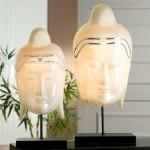 Tischlampe Buddha Kopf Feng Shui