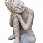 BUDDHA STATUE SCHLAFEND SEHR GROSS 37 cm BUDDHA FIGUR - Tínas Collection - Das etwas andere Design