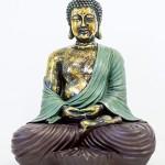 BUDDHA FIGUR GROSS 42CM SITZEND BUDDHA STATUE HANDBEMALT - Tinas Collection - Das etwas andere Design
