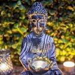 Solar Buddha Statue warmweißes LED