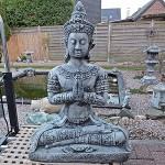Stein BUDDHA Feng-Shui Büste Göttin Steinfigur massiv Skulptur 75 cm massiver Steinguss