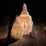 Pajoma LED-Licht Buddha, Wachs/Kunststoff, Höhe 25 cm 20495
