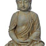Buddha-Figur, Buddha-Skulptur, Garten Buddha meditierend, Feng Shui